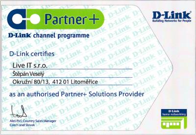 D-Link certifikát